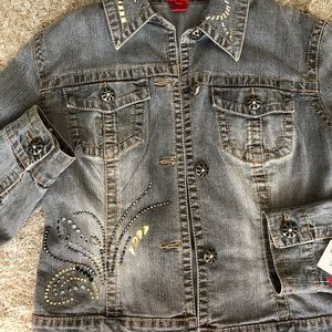 Very Vera - embroidered jean jacket- New with tags